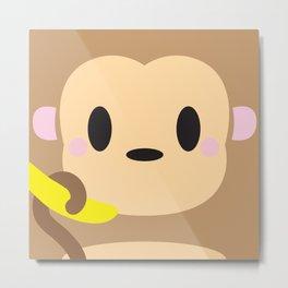 Monkey Block Metal Print