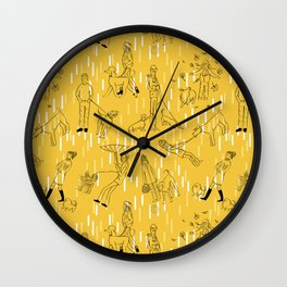 Dogs and Their Owners (Autumn) Wall Clock