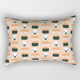 Salmon Dreams in peach, large Rectangular Pillow