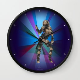 Sexy pump 3. On multicolored background (Predominance of violet) Wall Clock
