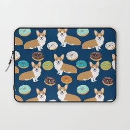 Corgi donuts welsh corgis food desserts doughnuts dog breed corgis Laptop Sleeve