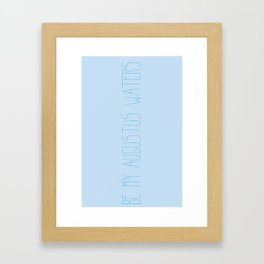 Augustus Waters Framed Art Print