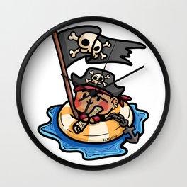 Pirate life buoy anchor treasure map Kids gift Wall Clock
