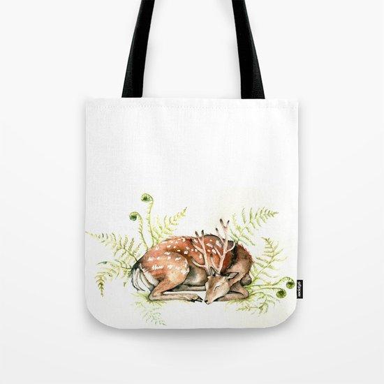 Sleeping Deer Tote Bag