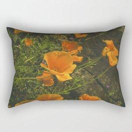 California Poppies 001 Rectangular Pillow