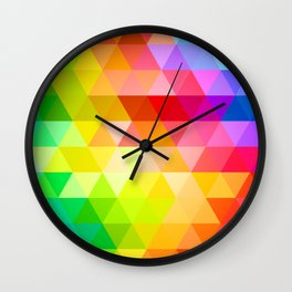 Circle Color Abstract Palette Spectrum Wall Clock
