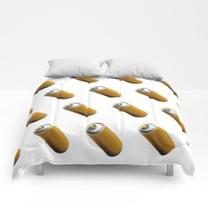 Golden Spray Can Pattern Comforters