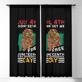 African American Girl Juneteenth My Independence Blackout Curtain