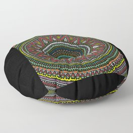 Colorful Mandala Floor Pillow