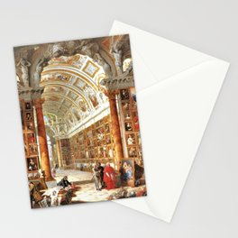 Giovanni Paolo Pannini Masterpiece Interior of a Picture Gallery with the Collection of theCardinal Stationery Cards
