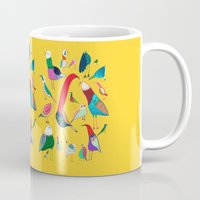 birds Mugs featuring  Birds by Ashley Percival illustration