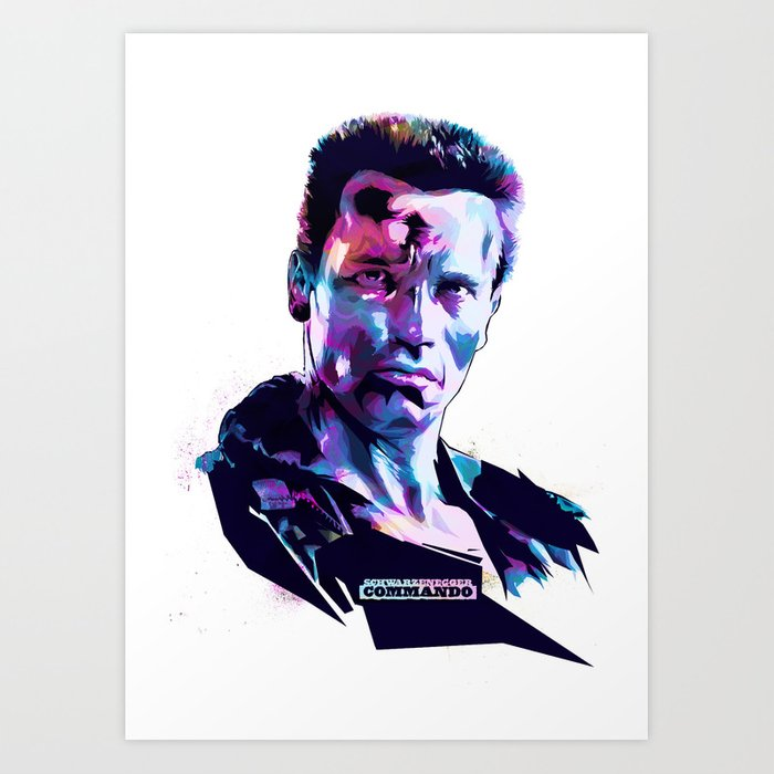 Arnold Bad arnold schwarzenegger bad actors print by largetosti society6
