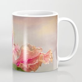 isolated hibiscus in bloom on tecture background Coffee Mug