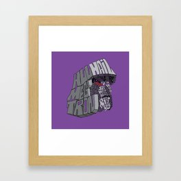 Tyrant Type Framed Art Print