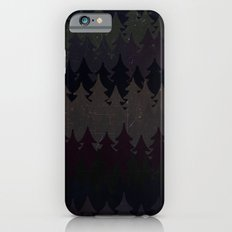 The secret forest at night - Abstract dark tree pattern iPhone 6s Slim Case