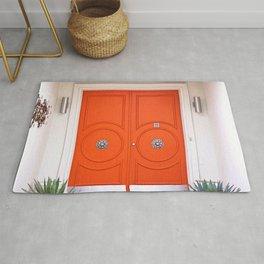 Palm Springs Orange Crush Door Rug