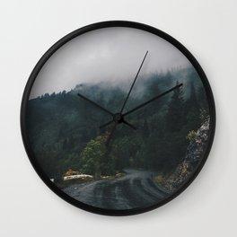 Mountain Rain | Cascade Supply Co. Wall Clock
