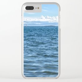 Voilier Blanc Clear iPhone Case