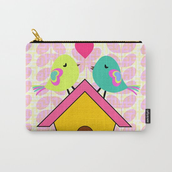 Cute birds- new home Carry-All Pouch