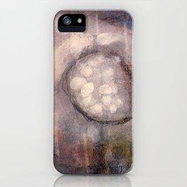 Lost Eye - Mixed Media Acrylic Abstract Modern Art, 2009 iPhone Case