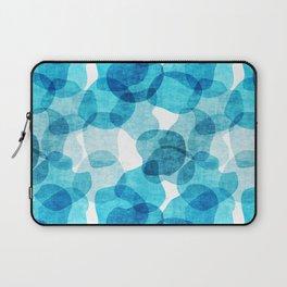 Large Blue Bubbles Pattern Laptop Sleeve