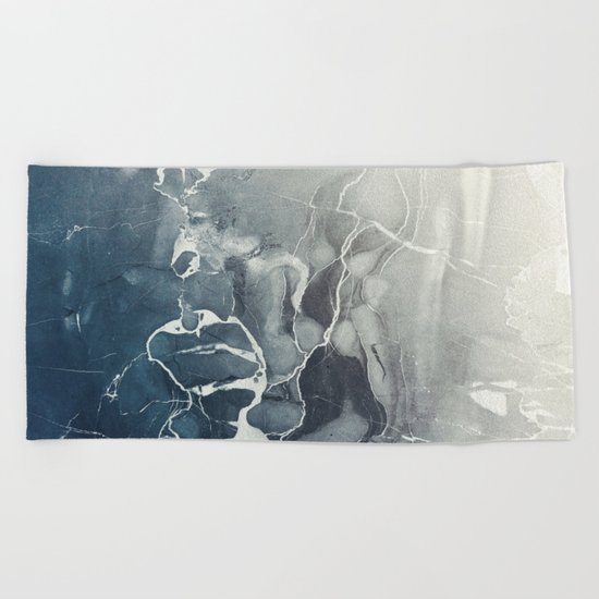 Ultramarine Marble Beach Towel