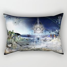 The City of Pyramids in the Night of Pan Rectangular Pillow