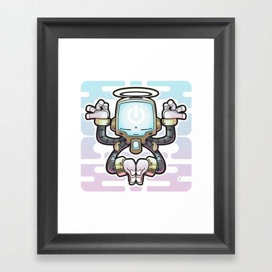 CONNECT_Bot022 Framed Art Print