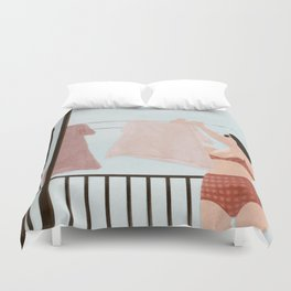 Hanging Clothes Duvet Cover