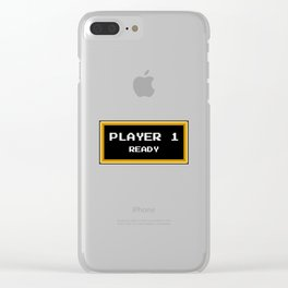 Player 1 ready Clear iPhone Case