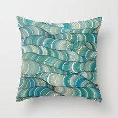 Wave Maker Throw Pillow
