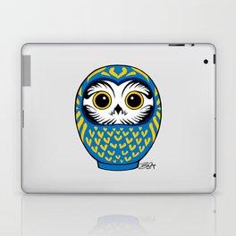 Blue Fukuro Daruma Laptop & iPad Skin