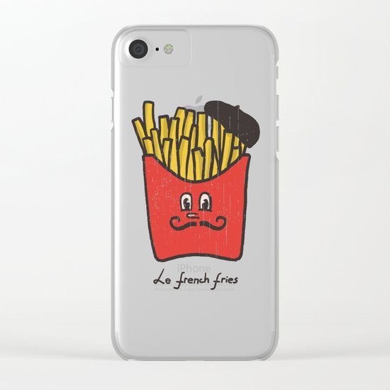 French Fries Clear iPhone Case