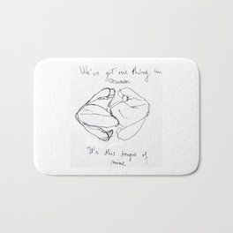 "Artwork inspired by the lyrics of The 1975's ""Sex"" Bath Mat"