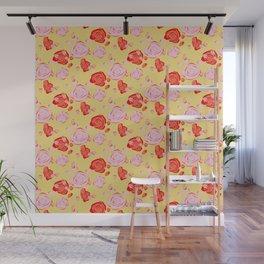Roses pattern 3b Wall Mural