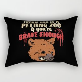Every Zoo Is A Petting Zoo If You're Brave Enough – Illustration Rectangular Pillow