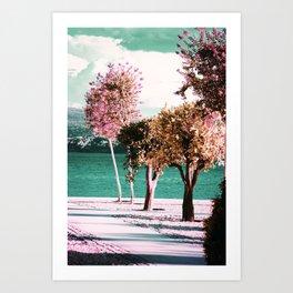 Blooming trees Art Print