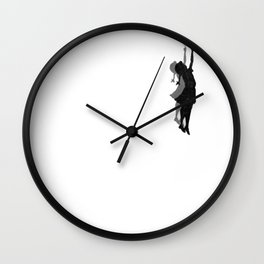 Banksy Fly Away  Wall Clock