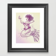 Mermaid Dime Framed Art Print