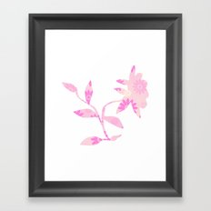 Pinky flower Framed Art Print