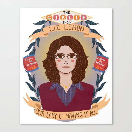 Liz Lemon Canvas Print