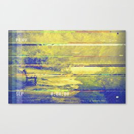 Glitch Security Footage Canvas Print