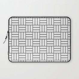 Basketweave (Grey & White Pattern) Laptop Sleeve