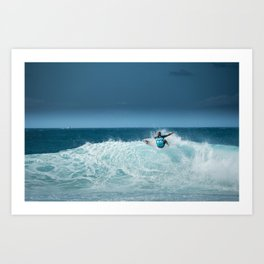 Kelly Slater at pipemasters 2013, hawaii Art Print
