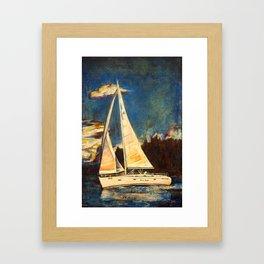 Blue Duet Framed Art Print