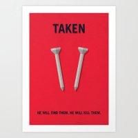 Taken Minimalist Poster Art Print