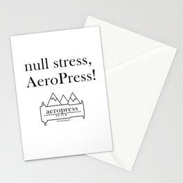 null stress, AeroPress! Stationery Cards