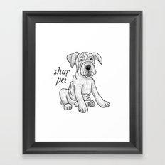 Dog Breeds: Shar Pei Framed Art Print