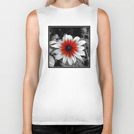 Flower | Flowers | Red Stroke Gaillardia | Red and White Flower | Nadia Bonello Biker Tank