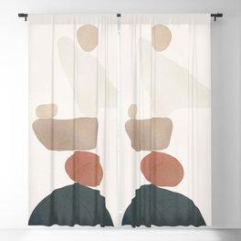 Balancing Stones 26 Blackout Curtain